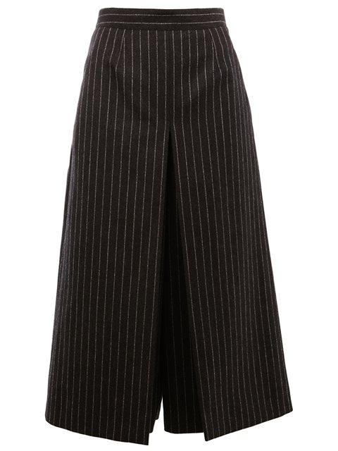 Saint Laurent Pinstripe Skirt Trousers