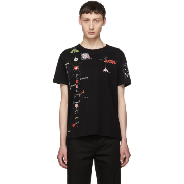 Valentino Videogames Arcade Printed T-shirt In 5d1 Blue