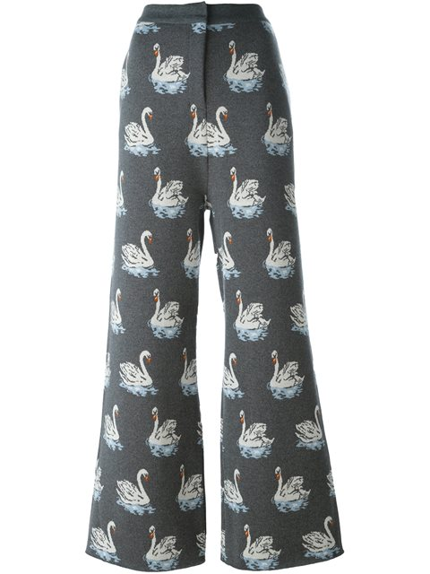 Stella Mccartney Swan Print Trousers - Grey
