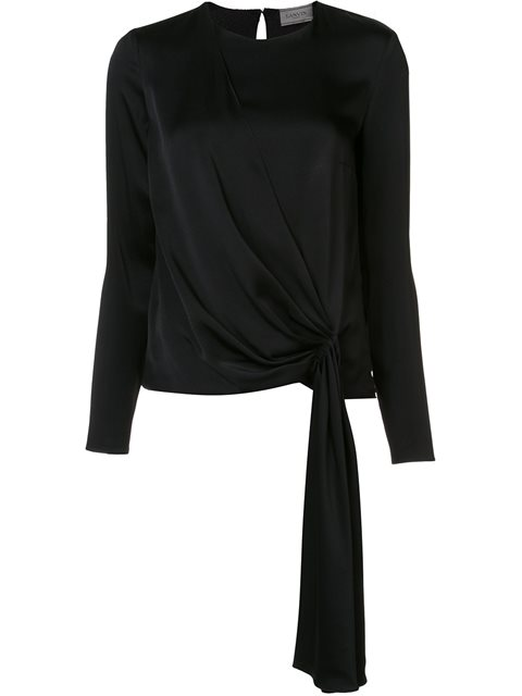 Lanvin Solid Color Shirts & Blouses In Black