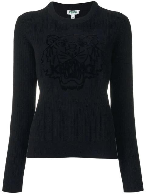 Kenzo Tiger Sweatshirt In Black
