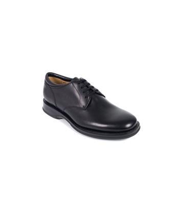Church's Churchs Womens Black Leather Lace Up Charmain Shoes