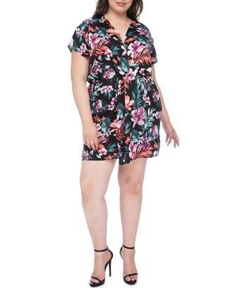 a9c707af503 BOBEAU. Aniyah Twist-Front Floral-Print Dress ...