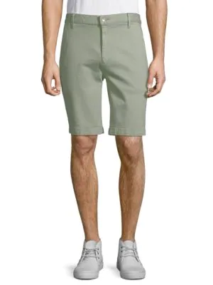 7 For All Mankind Classic Chino Shorts In Green