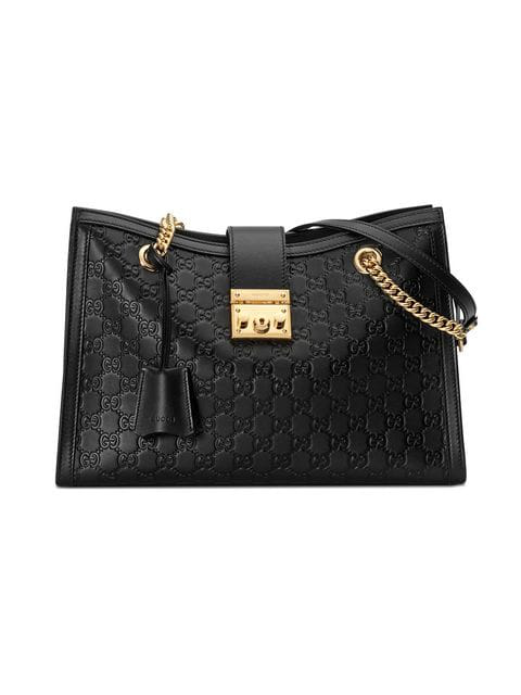 ca17bf4b3 Gucci Padlock Signature Medium Shoulder Bag - Black | ModeSens
