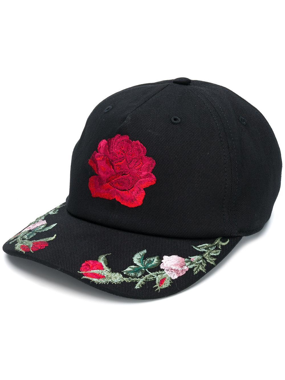 4bc38f52f04 ALEXANDER MCQUEEN. Alexander Mcqueen Floral Embroidered Cap ...