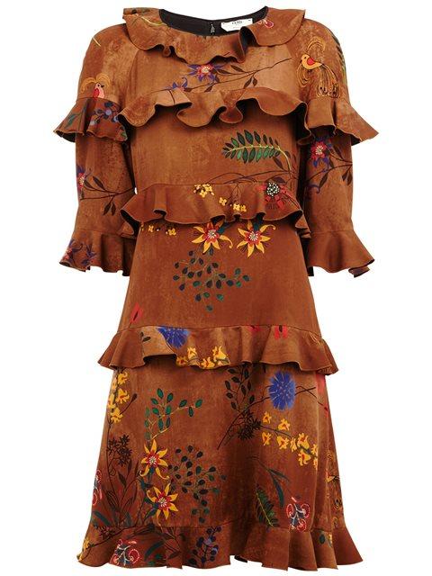 Fendi Floral Ruffle Dress