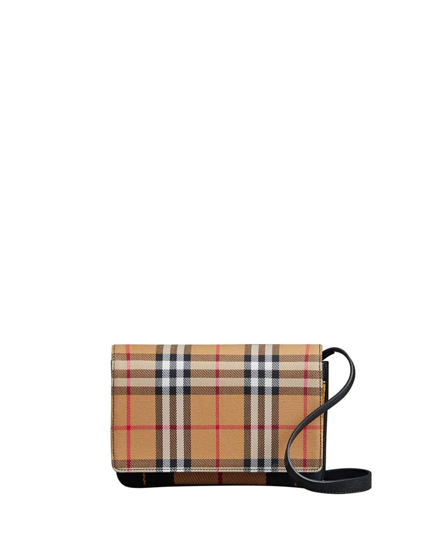394e6ce18a Burberry Hampshire Tartan Mix Crossbody Bag - Beige