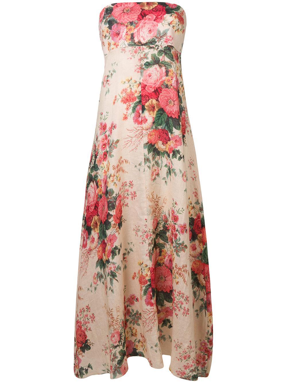 67571a7f0fc8 Zimmermann Melody Leopard-Print Linen Maxi Dress In Brown   ModeSens