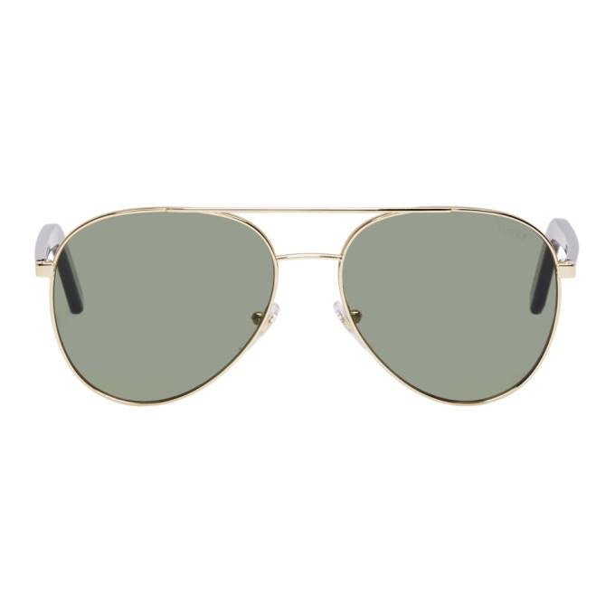 Super Gold And Green Ideal Sunglasses