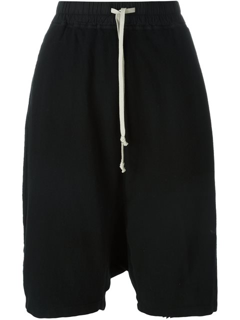 Rick Owens Drkshdw Drop Crotch Shorts