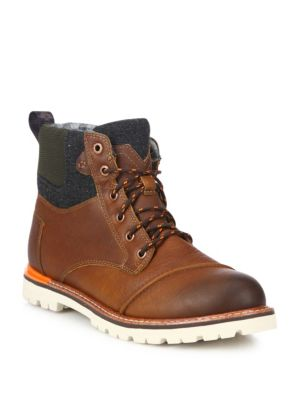 Toms Ashland Leather Boots In Brown