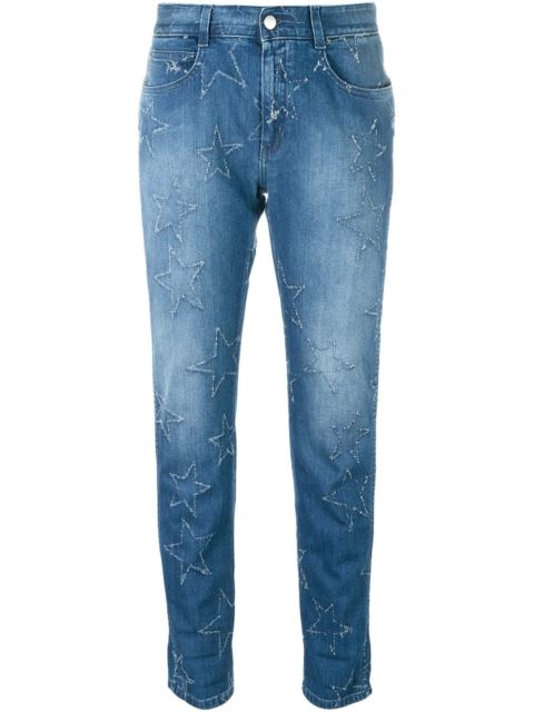 Stella Mccartney Star Accent Straight-fit Jeans - Blue
