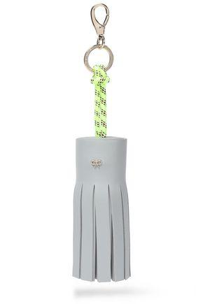 Anya Hindmarch Woman Tasseled Leather And Rope Keychain Sky Blue