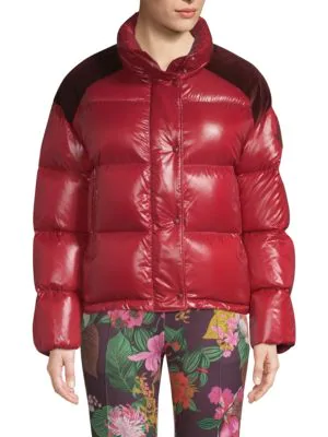 c8ff7c174231 Moncler Chouette Down-Quilted Puffer Jacket - Red