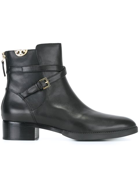 e45c9600cfdba Tory Burch Sidney Embellished Leather Ankle Boots In Black