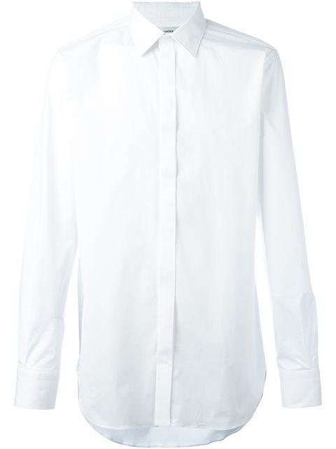 Alexander Mcqueen Cutaway Collar Shirt In White