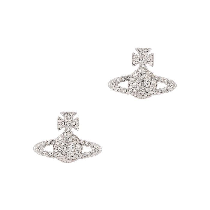 d5e06656b Vivienne Westwood Grace Crystal-Embellished Orb Stud Earrings In Silver