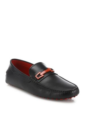 Tod's Leather Drivers In Black