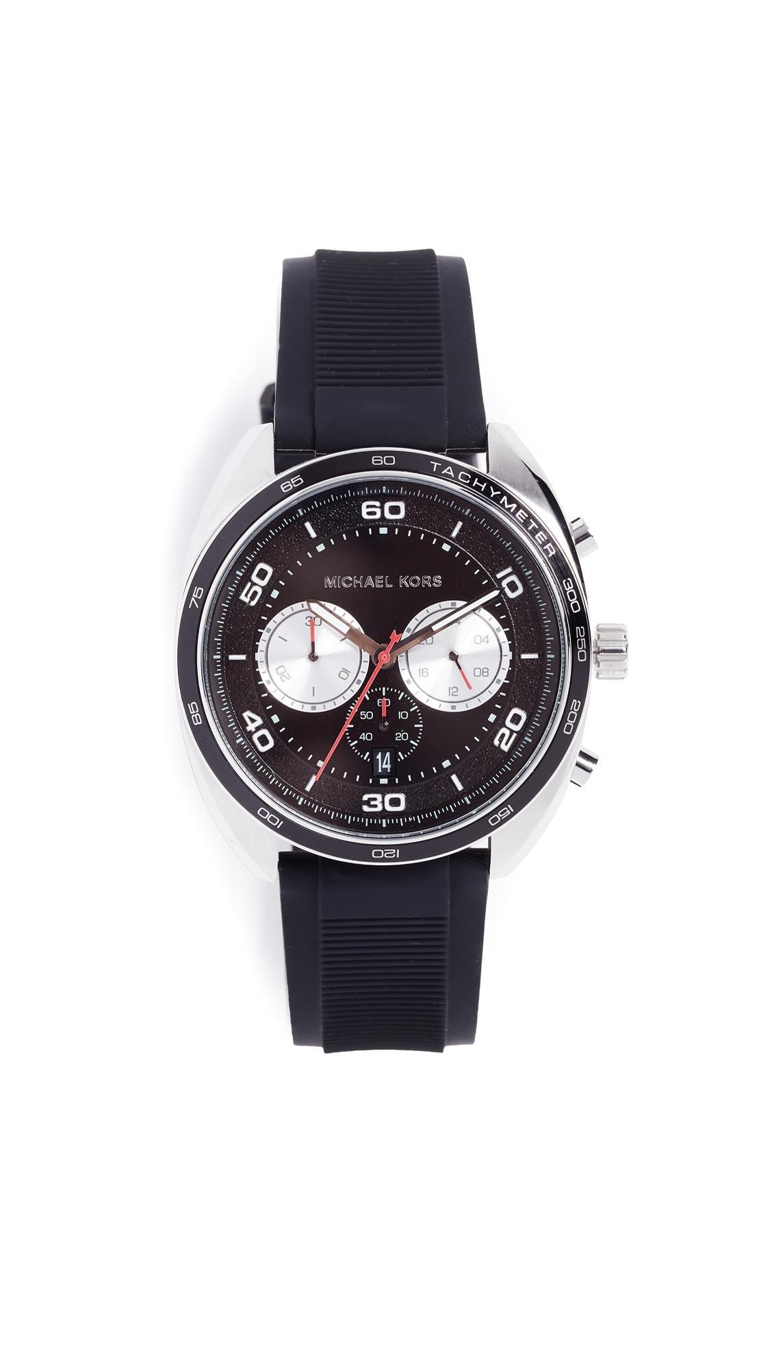 Michael Kors Dane Watch, 44Mm In Black