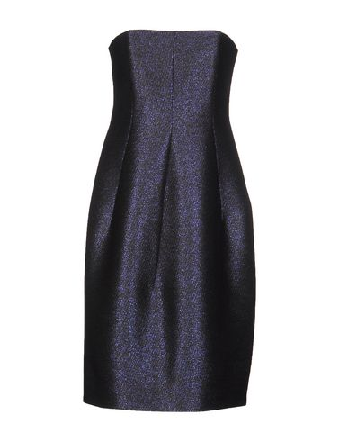 Jil Sander Short Dress In Dark Purple