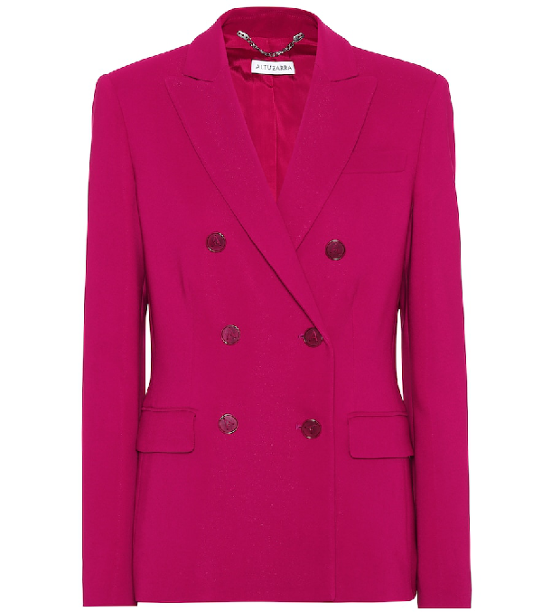 Altuzarra Indiana Double-Breasted Cady Blazer In Pink