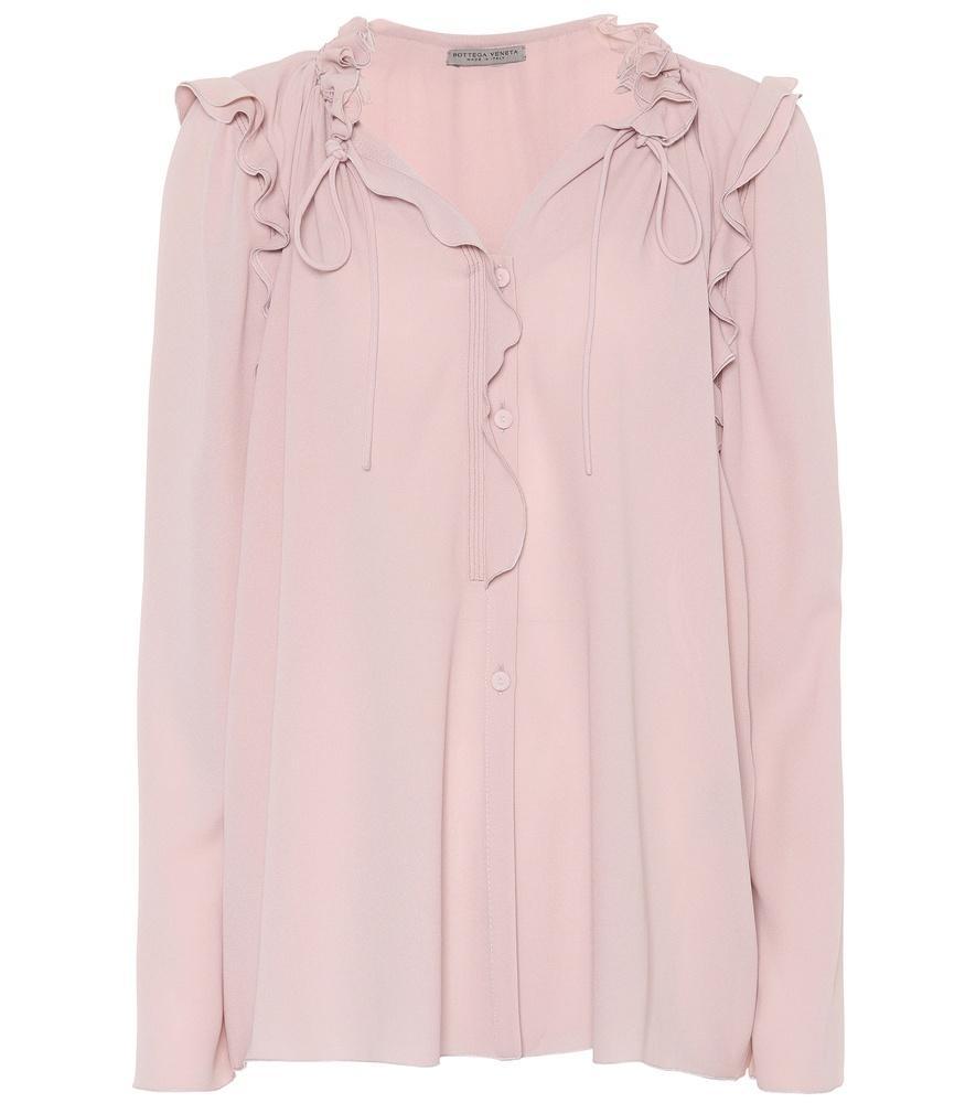 6e4c4401ed7f19 Bottega Veneta Silk Georgette Blouse In Pink | ModeSens
