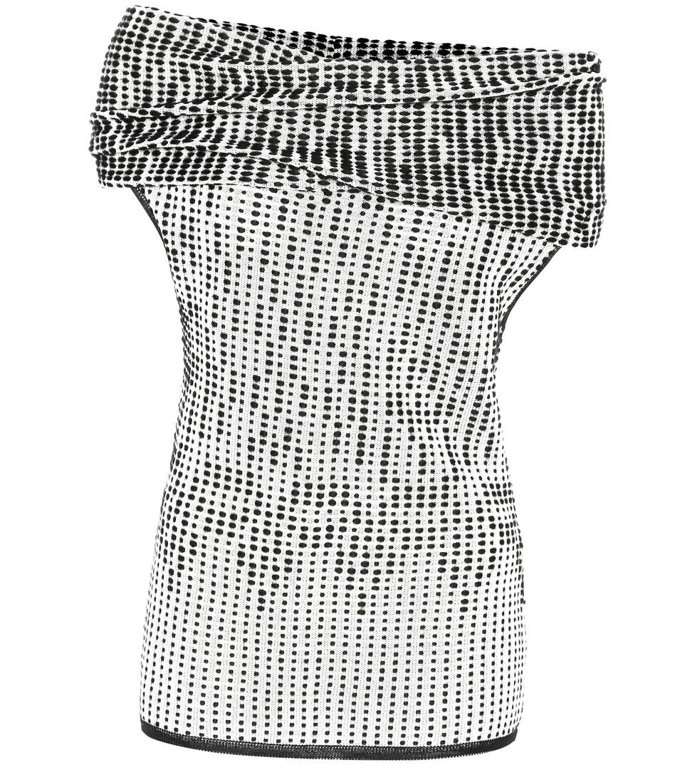 Roland Mouret Agard Knitted Wool-blend Off-the-shoulder Top In White