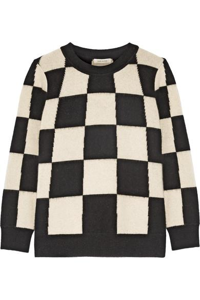 Marc Jacobs Woman Checked Cashmere Sweater White