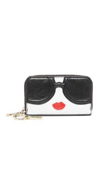 Alice And Olivia Stacey Face Zip Coin Purse In Multi