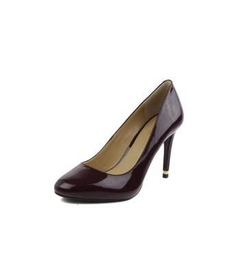 b466cd4deeca Michael Michael Kors Womens Ashby Flex Pump Leather Closed Toe Classic Pumps  In Purple