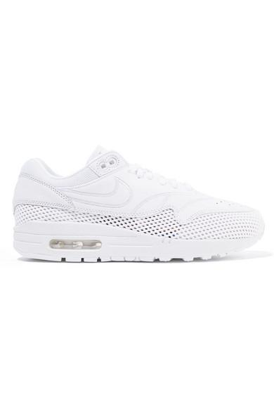 694e87e9e92 Nike Air Max 1 Si Leather And Mesh Sneakers In White