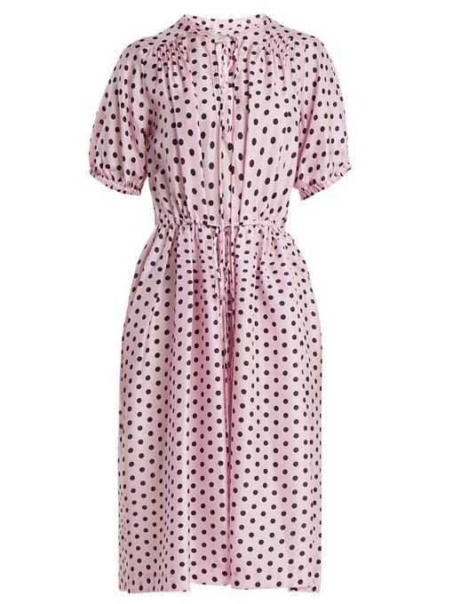 d84fc85ae4 Lee Mathews Mavis Silk Spot Dress In Primrose