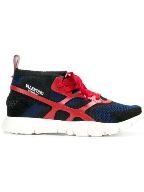 Valentino Garavani Sound High Sneakers In Blue