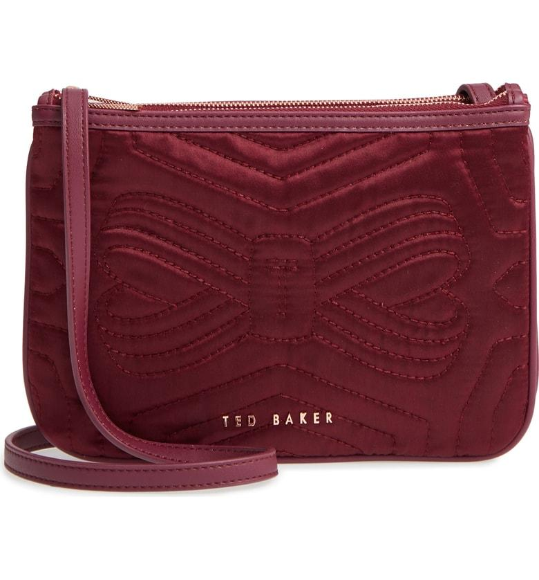 350c4fcfc8cd7f Ted Baker Quilted Bow Crossbody Bag - Burgundy In Maroon