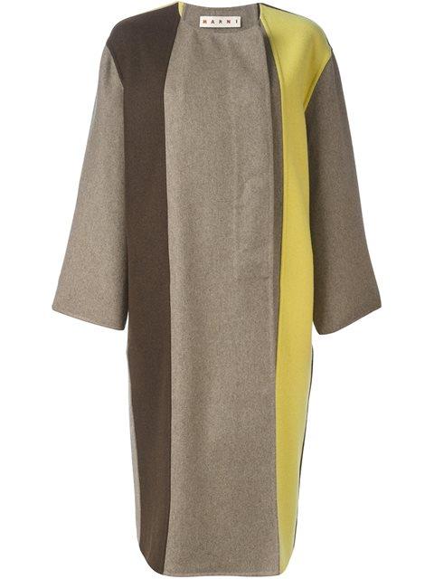 Marni Colour Block Coat In Dijoe
