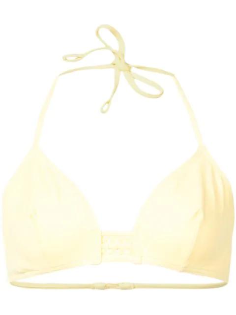 Eres Lumi Triangle Bikini Top In Yellow