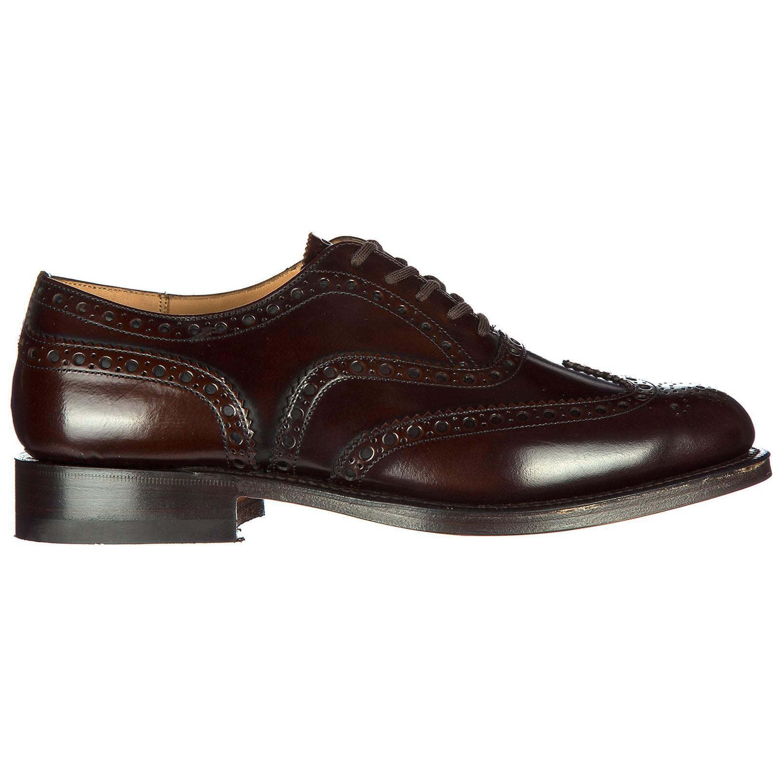 Herrenschuhe Leder Herren Business Schuhe Schnürschuhe Brogue Burwood in Brown