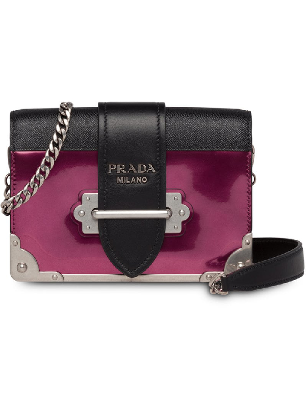 0b906c15dde063 Prada Small Cahier Leather Shoulder Bag In Purple | ModeSens