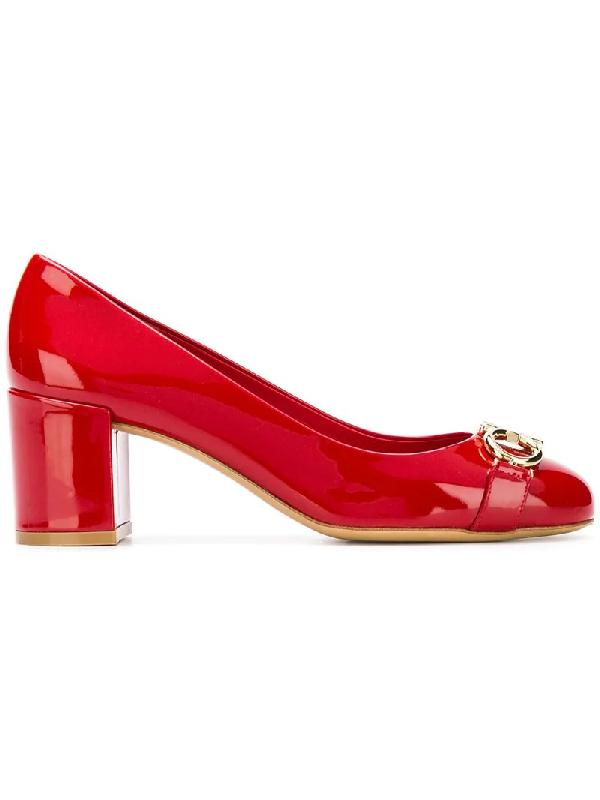 bb8a1d01d Salvatore Ferragamo 55Mm Garda Patent Leather Pumps In Red | ModeSens