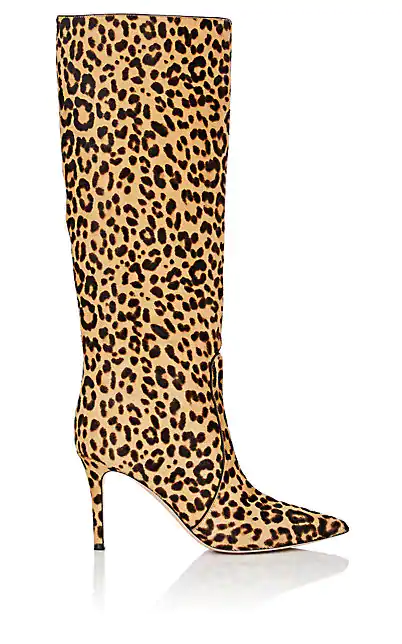 Gianvito Rossi Hunter Leopard-Print Calf Hair Knee Boots - Lt. Brown In Lt.Brown