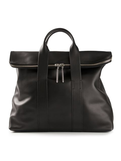 3.1 Phillip Lim '31 Hour' Leather Tote In Black
