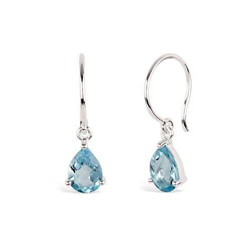 Dinny Hall Silver Gem Drop Blue Topaz Drop Earrings