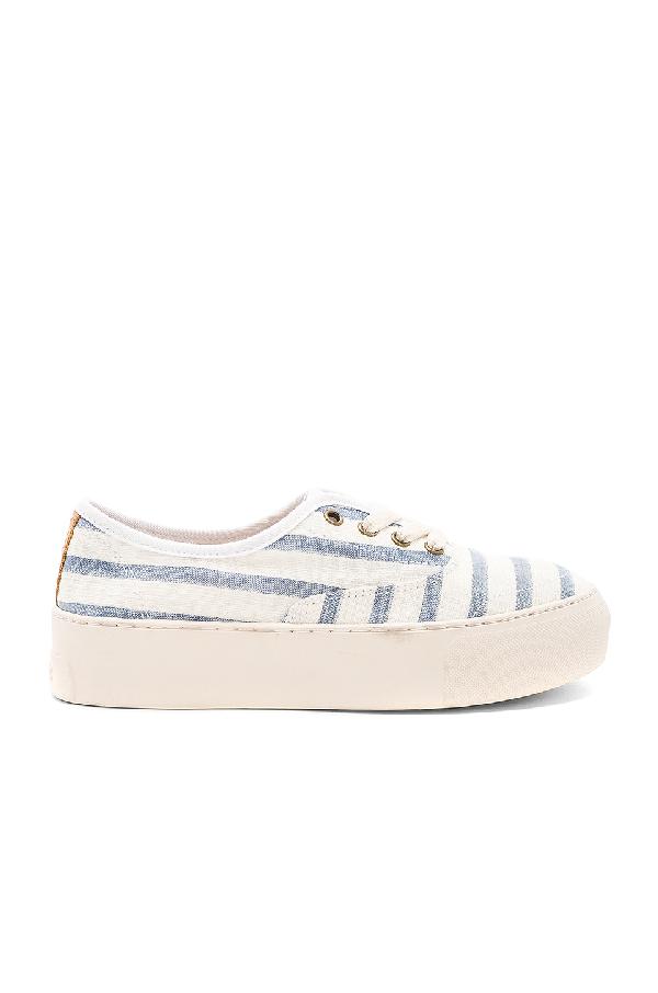 4f8ddf5bf57 Soludos Platform Stripe Sneakers In Natural Blue