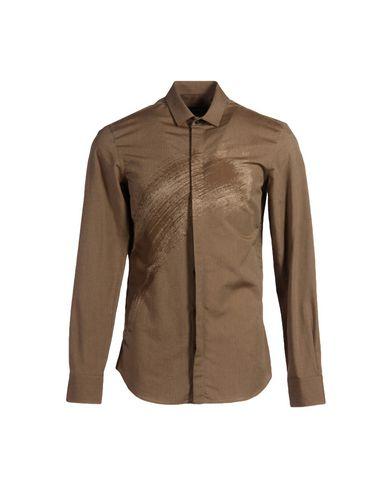 Emporio Armani Solid Color Shirt In Brown