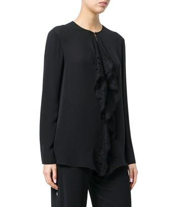 7a9e00dac2bcb1 Givenchy Women s Black Silk Blouse