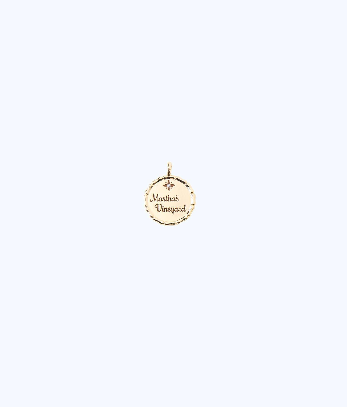 Lilly Pulitzer Location Charm - Amelia Island In Gold Metallic Dallas Charm
