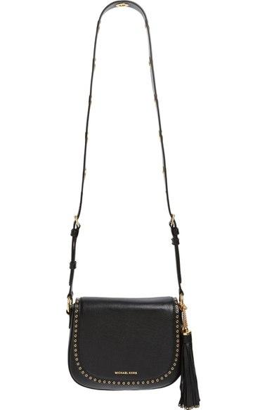 Michael Michael Kors 'medium Brooklyn' Leather Crossbody Bag In Black