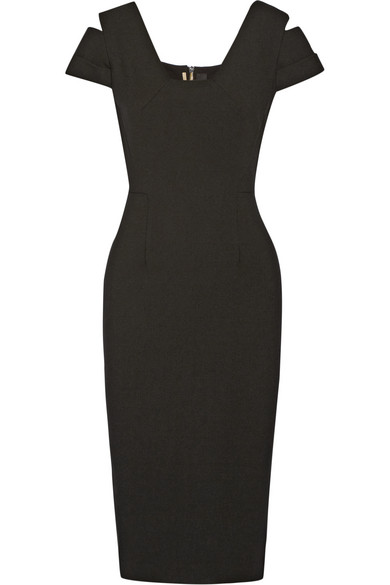 Roland Mouret Woman Minetta Cutout Stretch-crepe Dress Black In Llack