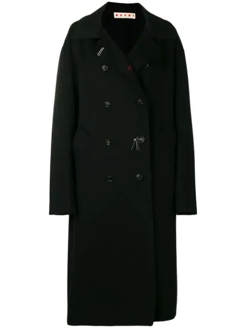Marni Double-Breasted Coat - Black